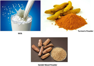 Milk, Turmeric, Sandalwood Powder Pack
