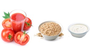 Tomato, Oatmeal, Yogurt