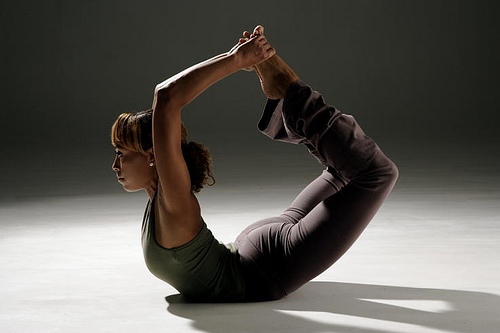 Dhanurasana or the bow pose