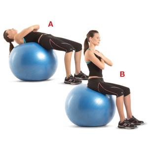 ball crunches 300x300 How To Lose Belly Fat?; 2 Best Methods by HNBT
