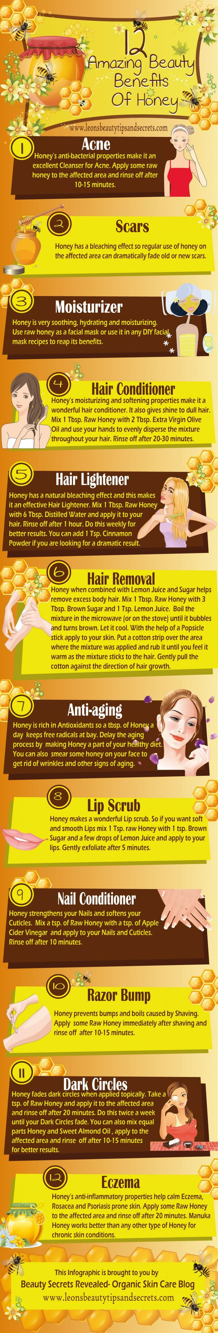 Facts and Amazing Benefits of Honey Infographic Benefits of Honey   51+ Amazing Health and Beauty Benefits [Infographic + Text]