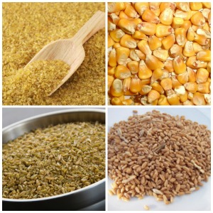 whole grains - Bulgur - Corn - Farro - Freekeh- Small Size