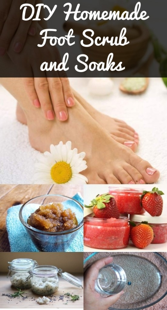 DIY Homemade Foot Scrub And Soaks