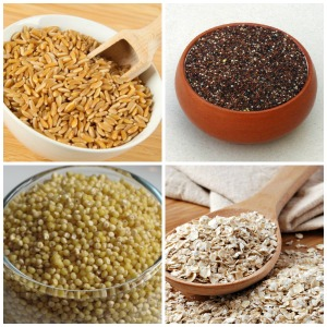 whole grains - Kamut - Kañiwa - Millet - Oats -Small size