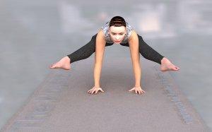 Tittibhasana firefly pose 300x187 Yoga Styles and Yoga Poses For Starters [Infographic]