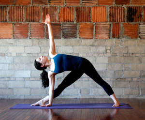 triangle pose 300x248 Yoga Styles and Yoga Poses For Starters [Infographic]