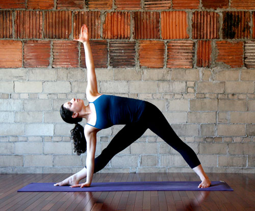Trikonasana or the extended triangle pose