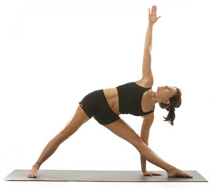 Trikonasan yoga (Triangle Pose)