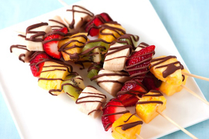 frozen fruit skewers