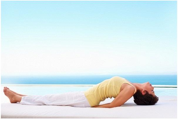 Matsyasana or the fish pose