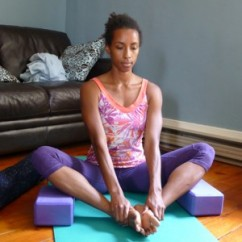 variations of lotus pose - Supported Bound Angle Pose