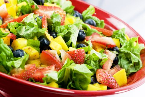 low calorie salad - fruit