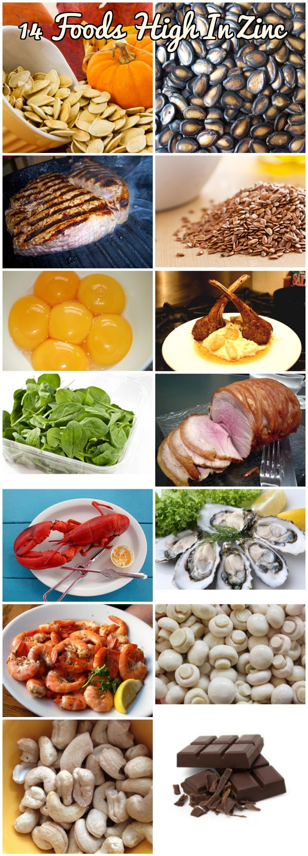 Foods high in zinc 15 zinc rich foods for zinc deficiency for Cuisine zinc