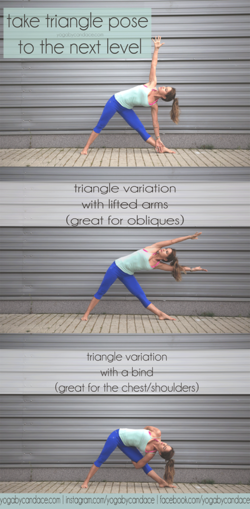 Triangle Pose variations