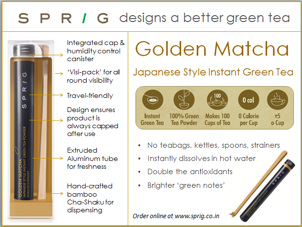 Sprig Golden Matcha Instant Green Tea Powder Review