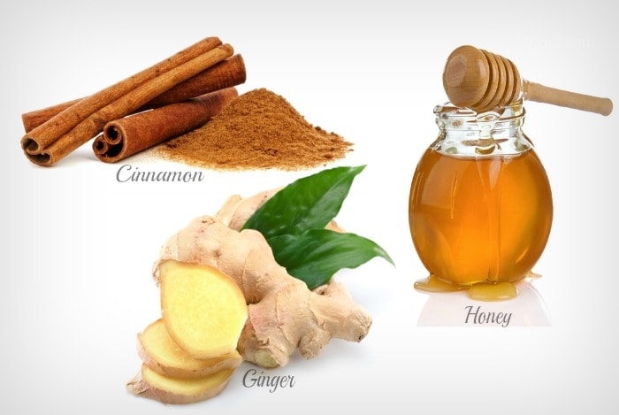 Get rid of diarrhea with cinnamon, honey and ginger