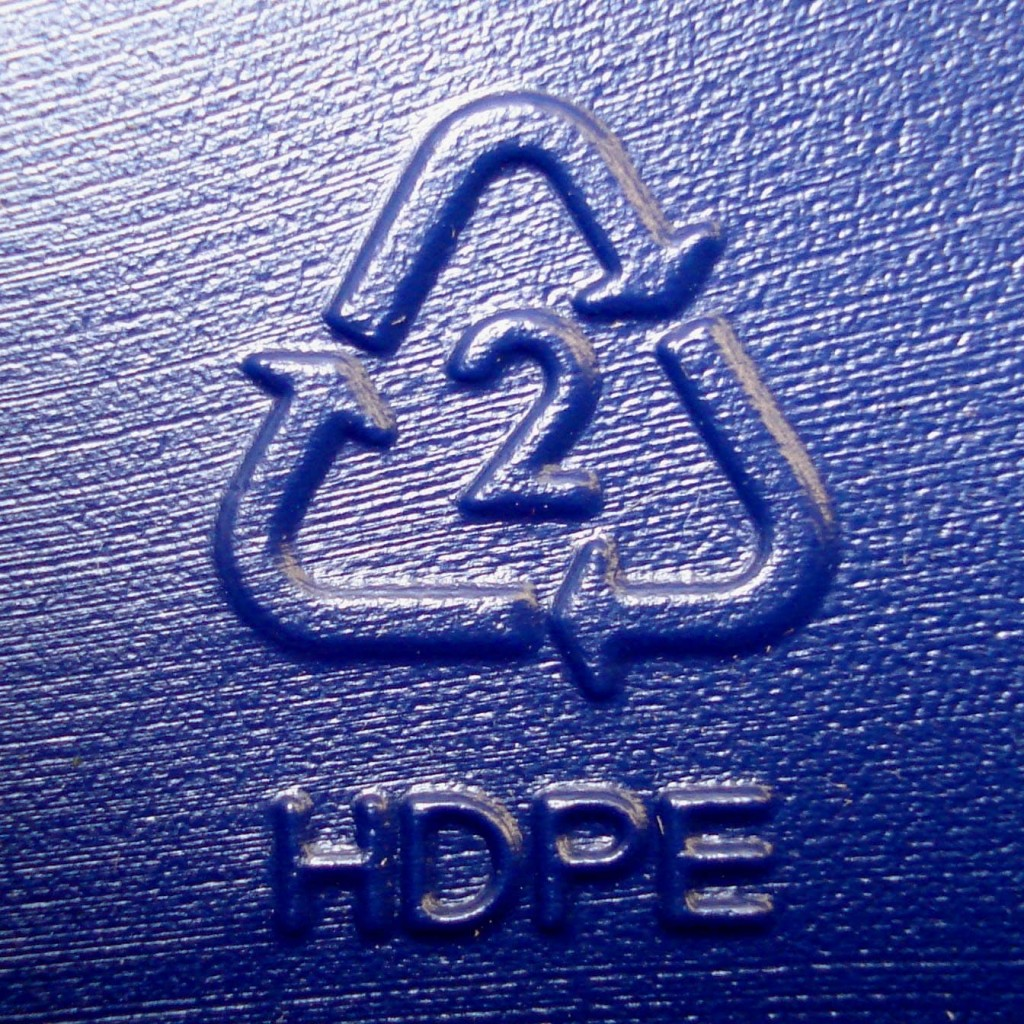 HDPE 2 Symbol On Plastic