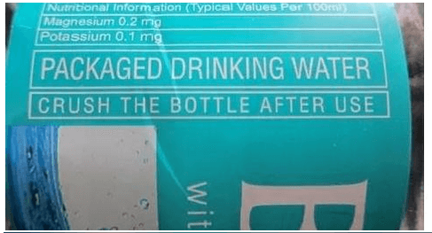 Warning - CRUSH THE BOTTLE AFTER USE